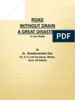 Road Without Drain - A Great Disaster