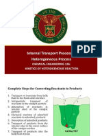 Internal Transport Process in Heterogeous Reactions Part1