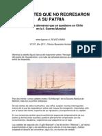 Los Cadetes que no Regresaron a su Patria, Marinos Alemanes en Chile en la I Guerra Mundial