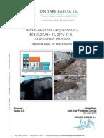 ARTZINIEGA 2010 Intervención Arqueológica Behekokale 23, 25 y 25 A Informe Final