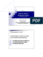 How to write a Research Paper (Technical Writing CS212)
