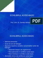 7 CURS - Echilibrul Acido-Bazic