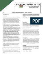 Newsletter November 30, 2012