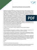 Convenio Constitutivo del Fondo Monetario Internacional (FMI)
