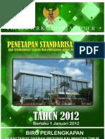 Buku Standarisasi Harga 2012