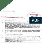 Banks-Maldives Govt Agreement