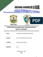 CONFIGURACION BASICA DEL PENTAHO SERVER Y REPORT DESIGNER