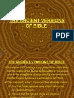 Codex, The Ancient Versions of Bible, Gospel