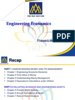 Engineering Economics  - Present Worth Analysis