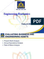 Rate of Return Analysis - Engineering Economics