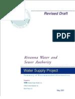 News Water Doc 2001 May VHBSupplySummaryGamut