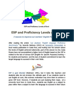 ESP and Proficiency Levels at Work
