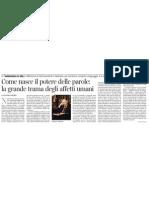 Il Potere Delle Parole Di Claudio Magris - Il Corriere Della Sera 01.12.2012