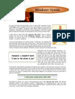 Newsletter December 2008 - In Lakech Namaste