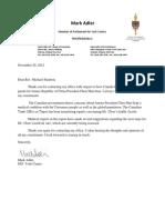2012-11-29 Medical Parole ROC President Correspondence
