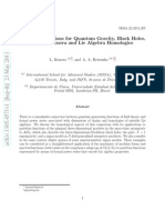 Partition Functions for Quantum Gravity, Black Holes, Elliptic Genera and Lie Algebra Homologies