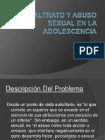Maltrato y Abuso Sexual en La Adolescencia