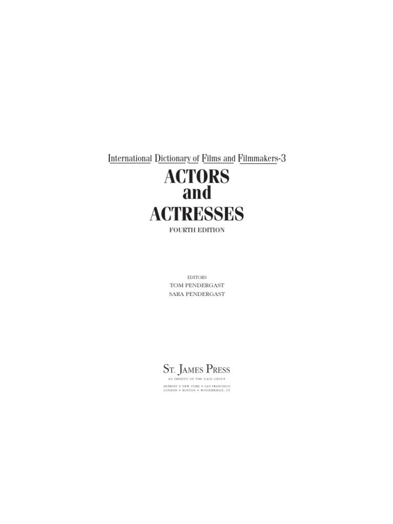 16e23e1e3cf Gale's International Dictionary Of Film And Filmmakers