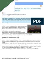 Ver, Conocer, Detectar e Identificar Con Netstat Conexiones Activas