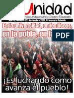 Boletin Unidad UCSC, Primavera rebelde 2012