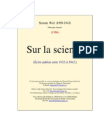 Weil, Simone - Sur La Science [1966]