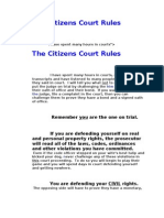 The Citizens Court Rules
