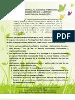 Declaración final XI Congreso Internacional Psicología Social de la Liberación