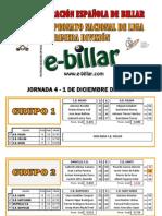 Resultados J4 LN3B Primera División