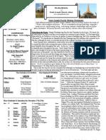 St. Joseph's November 18, 2012 Bulletin