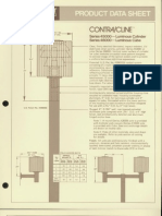 Moldcast Lighting Product Data Sheet Contra Cline Small Luminous Cylinder and Cube 1980