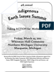 2011 4th Annual Indigenous Earth Issues Summit 'Taking Action for Mother Earth' NMU 3-25-11