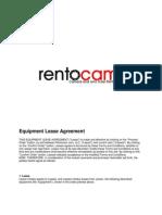 Equipment Lease Agreement (Rentocam.com) 2012 Nov