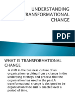 Understanding Transformational Change