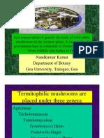 Ecoconservation of Goa's Termitomyces biodiversity