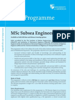 31 MSc Subsea Engineering