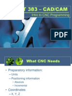 INT383 IntroductionToCNC Programming