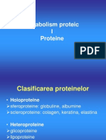 Metabolismul Proteic I