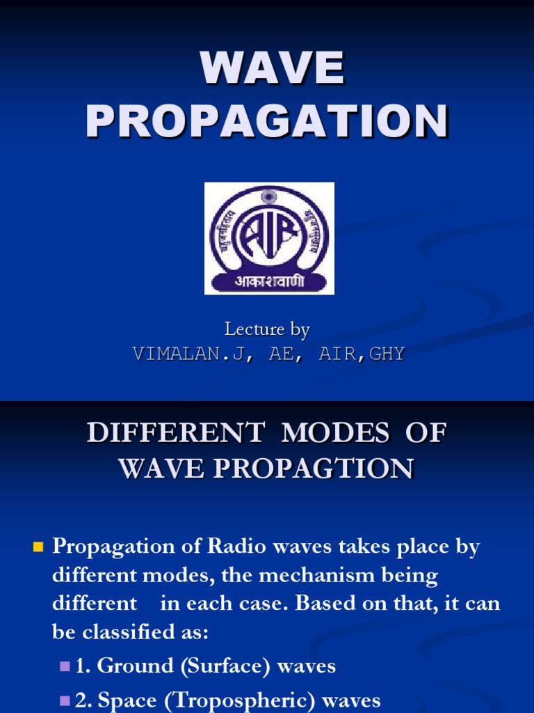 Wave Propagation | Radio Propagation | Ionosphere