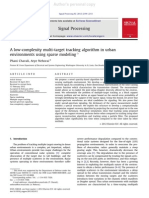A low-complexity multi-target tracking algorithm in urban environments using sparse modeling
