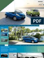 2012 Honda Jazz Owners Manual Brochure