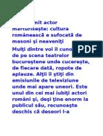 Actorii Si Masoneria