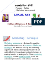 Marketing (Local Ads)