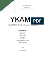 Ykamp Written Report