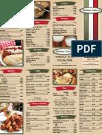 Italian Pizza Menu Sample