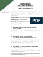 Mignovillard - Compte rendu du Conseil municipal du 6 juin 2012