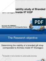 Business viability of Branded gift shop inside IIT Kharagpur