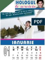 Calendar 2013 PSIHOLOGUL DE SERVICIU