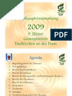 GV Präsentation 2009