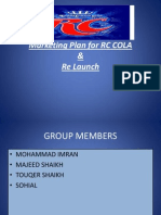 Marketing Plan for RC COLA & Re Launch