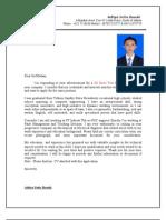 Application Letter + CV